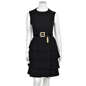 Teri Jon by Rickie Freeman Black Cocktail Dress
